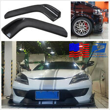 2 Pcs Anti Scratch Car Spoiler Canards Front Bumper Lip Splitter Accessories Kit