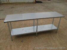 "New Stainless Steel Work Prep Table 84"" x 24"" , NSF"