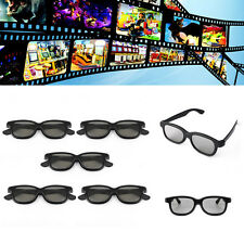 5x Passive 3D Polarized Len Glasses For Sharp Philips Sony Samsung LG TV Monitor
