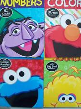 SESAME STREET WORKBOOKS (4) COLORS, ABC, LETTER SOUNDS, NUMBERS (BRAND NEW)
