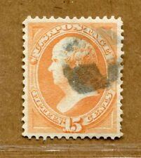 (1873) #163 15¢ Webster XF/SUPERB used stamp