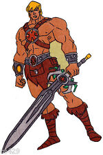 New listing he-man heman fabric applique iron on not embroidered 10.5 inch