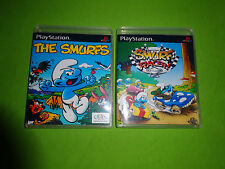 Empty Replacement Cases! The Smurfs + Racer PLAYSTATION 1 PS1 PS2 PS3