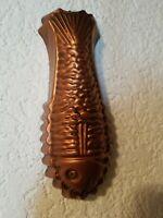 Alte Kupferform Backform FISCH  L 26 cm / Höhe 5 cm  (10)