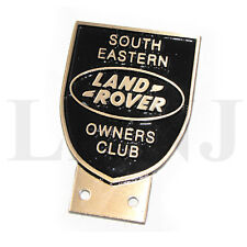 LAND ROVER OWNERS CLUB SOUTH EASTERN NEW ORIGINAL BADGE PLATE BRONZE CAST BLACK