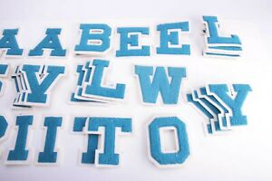 """Chenille Letters BLUE Felt 4.5"""" Sew On Letterman Jacket- (  Y or R letters)"""