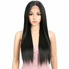 """JOEDIR 26"""" Long Straight Free Parting Silk Base Lace Frontal Wigs With Baby Hair"""