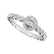 0.50 Carat Natural Diamond Engagement Ring G SI 14K White Gold