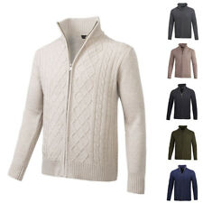 JUMPERS CARDIGAN FOR MEN SWEATERS STAND COLLAR THIN KNITWEAR JACKET COAT TOPS 5