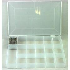 Scatola organizer in plastica 17 scomparti MILWARD + 100 farfalle avvolgifilo
