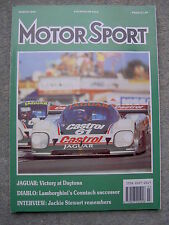 Motor Sport (March 1990) Jaguar win Daytona, Saab Cdi 2.3, Formula Renault, Ace