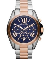 Michael Kors MK5606 Mid-Size Bradshaw Chronograph Watch, Silver-Color/Rose Gold