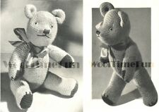 Vintage Knitting Pattern Toy Teddy Bear, Movable Joints.