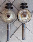 Pair Vtg Original Signal Coach Lamp-Buggy Light-Curved Glass/Red Glass-Electric