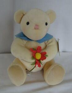 HALLMARK GREETING BEAR Pink Daisy PITTER-PATTER 1998
