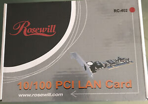New In Box - Rosewill RC-402 10/100 PCI LAN Card NEW