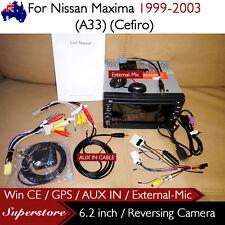 "6.2"" CAR DVD GPS Player Head Unit Stereo Navi For Nissan Maxima (A33)(Cefiro)"