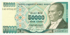 Turkey P-203 50000 lira (1989) UNC