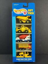 1994 Hot Wheels Construction Crew #3871 Vintage 5 Car Gift Pack HTF UNOPENED NEW