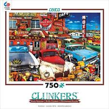 CEACO PUZZLE CLUNKERS OLD CARS AND USED GUITARS RUSTY SHIMMER 750 PCS #1144-12