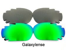 Galaxy Replacement Lenses For Oakley Racing Jacket Green&Titanium Polarized 2PS