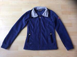 Spooks Riding Women's Blue Fleece Jacket Top, Size: S