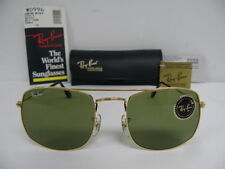 New Vintage B&L Ray Ban Fashion Metals Style 4 Gold RB3 Green W0996 USA NOS