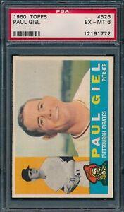 1960 Topps Set Break # 526 Paul Giel PSA 6 *OBGcards*