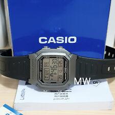 Authentic Casio W800H-7AV Man's Kids Black Resin 100M Snooze Alarm Digital Watch