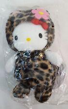 "1999 Sanrio HELLO KITTY Leopard CHEETA Costume 6"" Plush Bean Bag Doll HTF NEW"