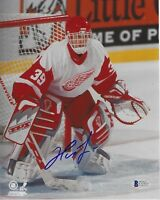 DOMINIK HASEK Signed Detroit RED WINGS 8x10 PHOTO w/ Beckett COA
