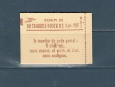 France carnet  de 20 timbres 2102 c7 a mate Sabine  1f40 rouge  conf 8 neuf