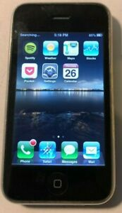 Apple iPhone 3GS - 8GB - Black (AT&T) A1303 (GSM) Fast Ship Good Used