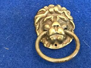 Antique Georgian lions heads with ring handles