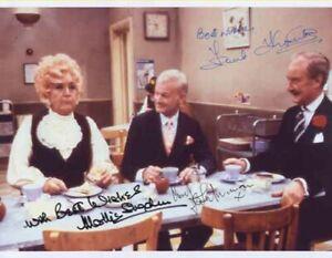 Mollie Sugden, John Inman & Frank Thornton - Actors - Signed Photo - COA (14826)