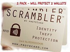 RFID PROTECTION- JUST ONE SCRAMBLER by proTECard PROTECTS ALL YOUR RFID CARDS!