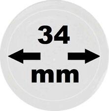 25 x LOOK Münzkapseln 34 mm Innendurchmesser - Aussen. 40 mm Glasklar mit Rand