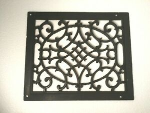 Antq/Vtg Cast Iron Ornate Floor Heating Grate Register Clean and Ready to Use