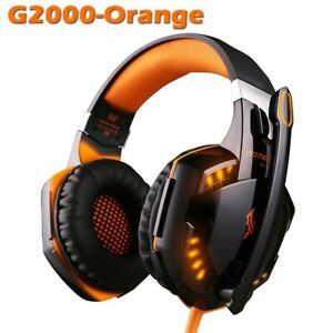 Gaming Headsets Bass Stereo - over Kotion Each PC mac Laptop Microphone Wired