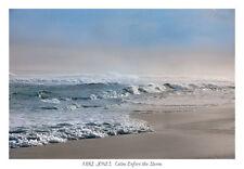 CALM BEFORE THE STORM MIKE JONES PRINT ocean beach sand blue water waves poster