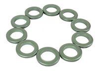 36 x Rufflette Jupiter Rings for Eyelet Curtains - Leaf Green NEW