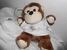 ooza palooza PLUSH LOVEY SOFT BABY brown cream  monkey the party place shirt 9""