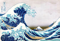 The Great Wave High Quality Canvas Print A3