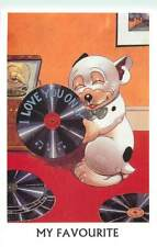 Comic Bonzo the dog my favourite vinyl G.E. Studdy 1995 Mayfair postcard
