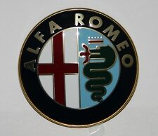 ALFA ROMEO FRONT GRILLE BADGE LOGO EMBLEM 75mm. METAL HIGH QUALITY