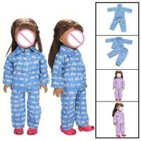 Cute Pajamas Nightgown Clothes For 18 inch Girl Doll C1K6 S7C0