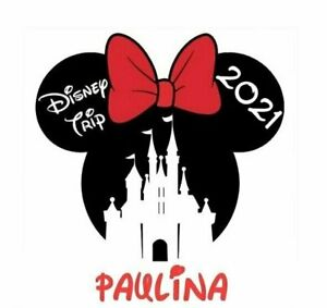 DISNEY MINNIE MOUSE CASTLE  VACATION 2021  PERSONALIZED T-SHIRT IRON ON TRANSFER