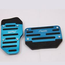 2x Universal Car Racing Foot Pedals Plate Brake Pad Cover Kit for Automatic Blue