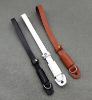 Black/Brown/White Genuine Leather Camera Hand Wrist Belt Strap for Digital DSLR