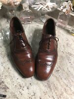 Johnston Murphy Aristocrat Tan Brown Leather Brogue Wing Tips 10 11 12 Unknown